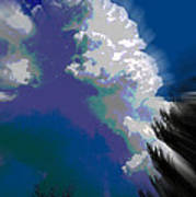Building Cumulus Abstract Art Print