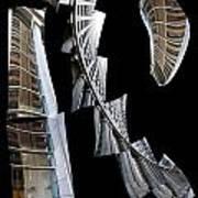 Building Desending A Staircase - 200050 Art Print