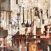 Building Trades - Hand Tools In Machine Shop Art Print