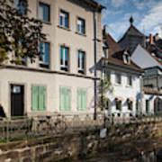 Buildings Along Canal, Altstadt Art Print