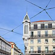 Buildings In The Chiado Neighbourhood Of Lisbon Art Print