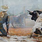 Bull Dogged Baffled Art Print by Bob Graham