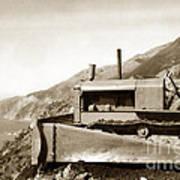 Bull Dozer Road Construction On Highway One Big Sur Circa 1930 Art Print