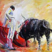 Bull In Yellow Light Art Print