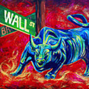 Bull Market Art Print by Teshia Art