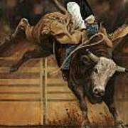 Bull Riding 1 Art Print