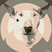 Bull Terrier Graphic 1 Art Print