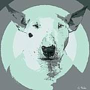 Bull Terrier Graphic 3 Art Print