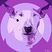 Bull Terrier Graphic 5 Art Print
