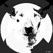 Bull Terrier Graphic 6 Art Print