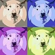 Bull Terrier Pop Art Art Print