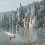 Bullard Rock On The New River Art Print