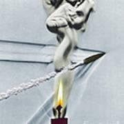 Bullet Shot Through Candle Flame Art Print