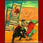 Bullfight Poster Art Print