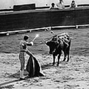 Bullfighter And The Lady Homage 1951 Bullfight Nogales Sonora Mexico Art Print