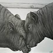 Bullheaded Art Print by Adrienne Giljam