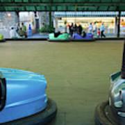 Bumper Cars At Monte Igueldo Amusement Art Print