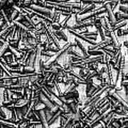 Bunch Of Screws 3- Digital Effect Art Print