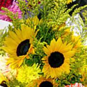Bunch Of Sunflowers Art Print