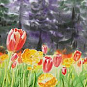 Bunch Of Tulips I Art Print