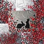 Bunnies In Blossom Art Print