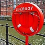 Buoy Foam Lifesaving Ring Art Print by Luis Alvarenga