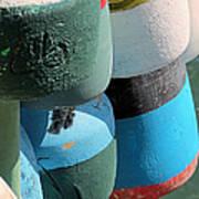Buoys Tied Up Art Print
