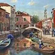 Burano Canal Venice Art Print