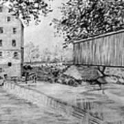 Burfordsville Bridge And Bollinger Mill Art Print