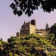 Burg Katze Castle On The Rhine Art Print