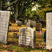 Burial Hill Cemetery-close Up Art Print