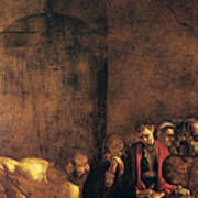 Burial Of St Lucy Print by Caravaggio