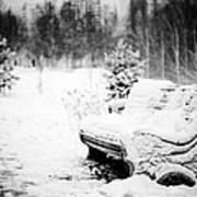Buried In Snow Art Print