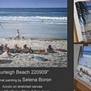 Burleigh Beach 220909 Art Print by Selena Boron