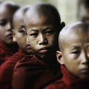 Burma Monks 2 Art Print
