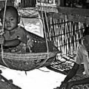 Burmese Mother And Son Print by RicardMN Photography