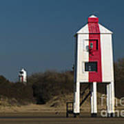 Burnham-on-sea Lighthouses Art Print