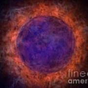 Burning Blue Sun Art Print