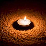 Burning Candle Art Print