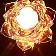 Burning Flower Art Print