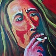 Burning Marley Art Print