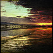 Burning Night On Siesta Key II Art Print by Alison Maddex