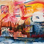 Burning Sunset Art Print