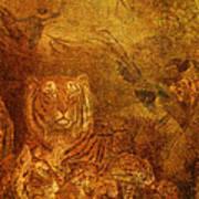 Burnished Tigers Art Print