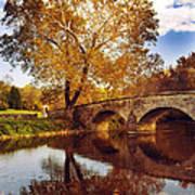 Burnside Bridge At Autumn Sunset Art Print
