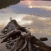 Burnt Island Lake Sunset Art Print by Chris Hill