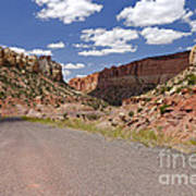 Burr Trail Road Through Long Canyon Art Print