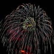 Burst Of Fireworks Art Print