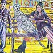 Bus Stop Art Print by Linda Vaughon