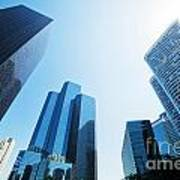 Business Skyscrapers Art Print by Michal Bednarek